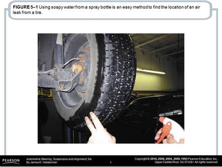 Automotive Steering, Suspension and Alignment, 5/e By James D. Halderman Copyright © 2010, 2008, 2004, 2000, 1995 Pearson Education, Inc., Upper Saddle.