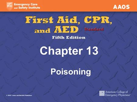 Chapter 13 Poisoning. Ingested (Swallowed) Poisons Recognizing Ingested Poisoning Abdominal pain Nausea or vomiting Diarrhea Burns, stains, odor near.