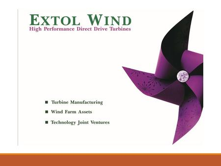Business  Wind Turbine OEM  BOO & BOOT of Wind energy projects  'Off grid - Distributed wind' energy projects  JV manufacturing and technology licensing.