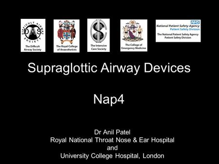 Supraglottic Airway Devices Nap4