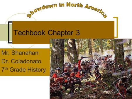 Techbook Chapter 3 Mr. Shanahan Dr. Coladonato 7 th Grade History.