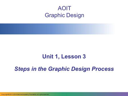 Steps in the Graphic Design Process