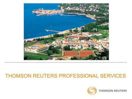THOMSON REUTERS PROFESSIONAL SERVICES. THOMSON REUTERS PATENT CONTENT 98% of world's filed patents.