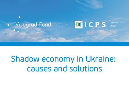 "Ukraine's shadow economy in relation to GDP (%) Year Evaluation by the method of the State Statistics Service of Ukraine ""Household expenditure – retail."