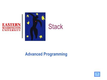 1 Stack Advanced Programming. 2 The Stack It is a special area of memory used as temporary storage A stack is a LIFO data structure Putting data into.