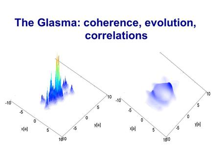 The Glasma: coherence, evolution, correlations. Outline of lectures  Lecture I: The parton model, pQCD and gluon saturation  Lecture II: The Color Glass.