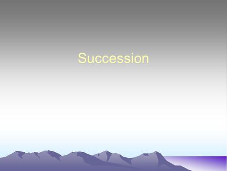 Succession. Succession Disturbances such as fires, landslides, hurricanes, and floods trigger a sequence of changes in the composition of a community.