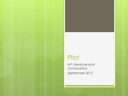 Plot AP Literature and Composition September 2012.