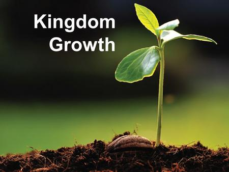 "Kingdom Growth. Kingdom of God RockYeastSeeds Kingdom Growth Kingdom of God - Rock 34 ""You continued looking until a stone was cut out without hands,"