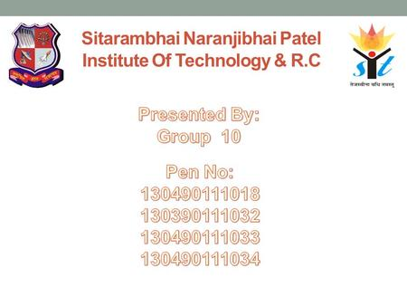Sitarambhai Naranjibhai Patel Institute Of Technology & R.C.