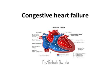 Congestive heart failure Dr/Rehab Gwada. Objectives – Define Congestive Heart Failure. – Outlines the Factors Affecting Cardiac Output – Discuses the.