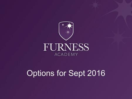 Options for Sept 2016. Why do you have to choose? Too many subjects to study in the depth and detail needed at Key Stage 4 Enable students to focus on.