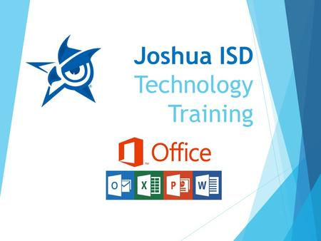 "Joshua ISD Technology Training. Word 2013 Opening Word 2013  Click the Start button  Enter ""word"" in the Search box  Click on the Word 2013 when it."