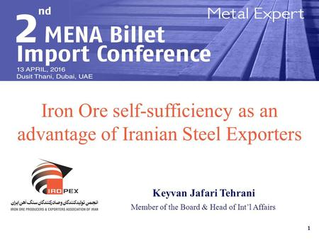 Iron Ore self-sufficiency as an advantage of Iranian Steel Exporters