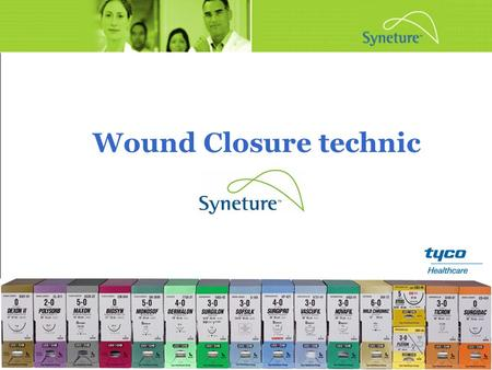 HealthcareHealthcare Wound Closure technic. HealthcareHealthcare Instrument 1.Scalpel 3.Dissecting Forceps 4.Needle Holder 5.Suture Needles 6.Sutures.