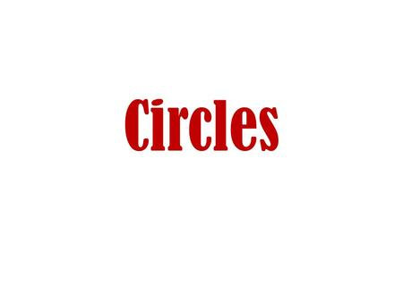 Circles. Parts of a Circle Center The diameter is the distance across the circle through the center The radius is the distance to the center point.