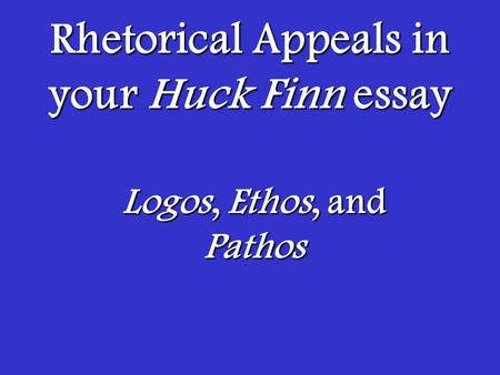 Historical speech analysis ethos logos pathos