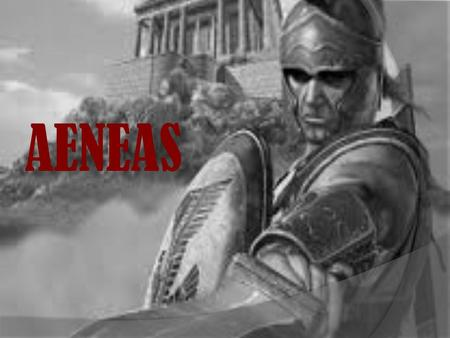 AENEAS. Background of Aeneas Aeneas was the son of Anchises and Venus. He was the cousin of King Priam of Troy, and he was the leader of Troy's Dardanian.