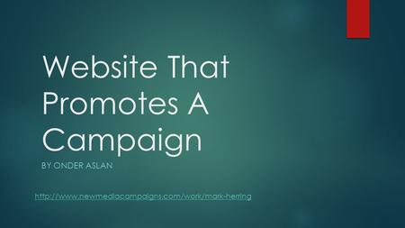 Website That Promotes A Campaign BY ONDER ASLAN