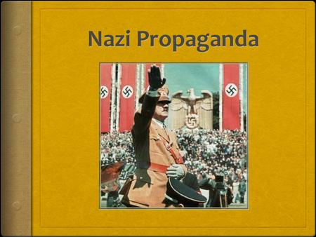 "What is Propaganda?  Political advertising  ""information, ideas, or rumors deliberately spread widely to help or harm a person, group, movement, institution,"