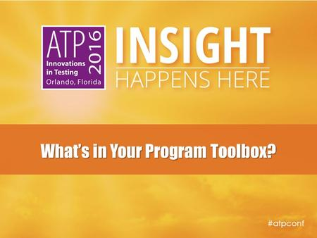 #atpconf What's in Your Program Toolbox?. #atpconf Presenters ■ Jessi Mielke  Certification Program Manager  Esri ■ Lisa O'Leary, Ph.D.  Senior Psychometrician.