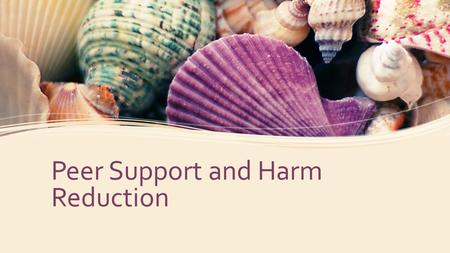 Peer Support and Harm Reduction.  What is Peer Support  Peer support is a system of giving and receiving help founded on key principles of respect,