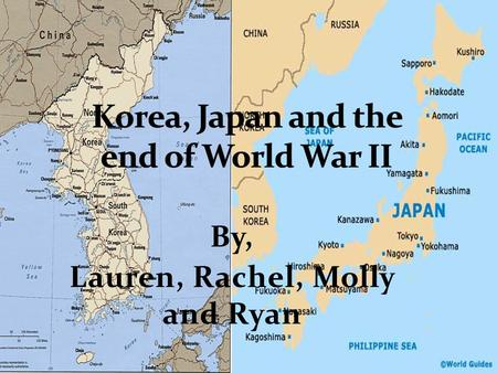 By, Lauren, Rachel, Molly and Ryan. In the late 19th and early 20th century, many Western countries competed for trade, goods, and territory in East Asia.