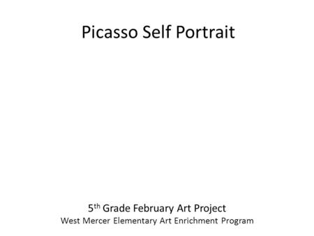 Picasso Picture Program