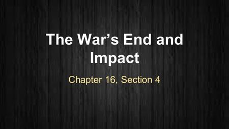 The War's End and Impact Chapter 16, Section 4. Nixon Starts the Pullout ●Peace talks began in 1968, but couldn't come to an agreement ●Vietnamization:
