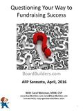 Questioning Your Way to Fundraising Success With Carol Weisman BoardBuilders.com With Carol Weisman, MSW, CSP