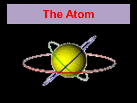 The Atom. An is the smallest particle of an element. The arrangement of atoms determines the properties of different types of. An atom is more than one.