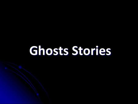 Ghosts Stories. Index 1. The author 2. THE CONFESSION OF CHARLES LINKWORTH 2.1 Characters 2.1 Characters 2.2 Plot 2.2 Plot 3. Personal opinion.