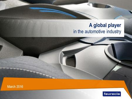A global player in the automotive industry