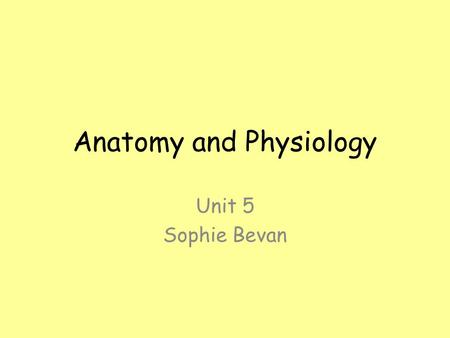 Anatomy and Physiology Unit 5 Sophie Bevan. 'The same state' Equilibrium Negative feedback Homeostasis The way your body attempts to maintain constant.
