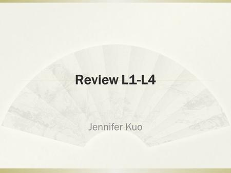 Review L1-L4 Jennifer Kuo. Today's Objectives  Introduce your Chinese name :  我的 X 是 XY 的 X 。  Ex. 你好,我姓王,叫王朋。王是国王的王,朋是朋友的朋。  Chinese input  Review.