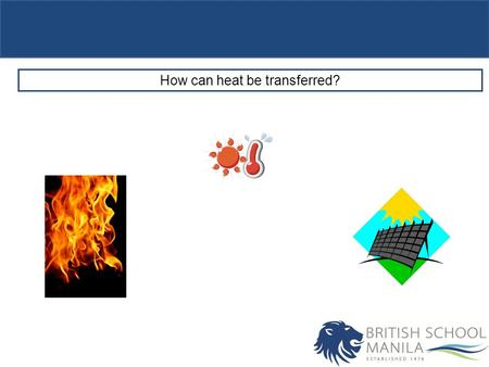 How can heat be transferred?. Objectives Describe conduction as a method of heat transfer. Outcomes C: Define conduction. B: Explain conduction in terms.