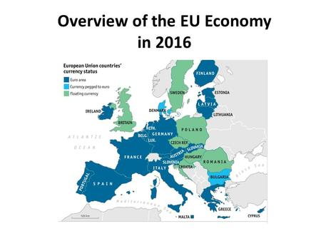 Overview of the EU Economy in 2016. Summary from Economist February 18, 2016.