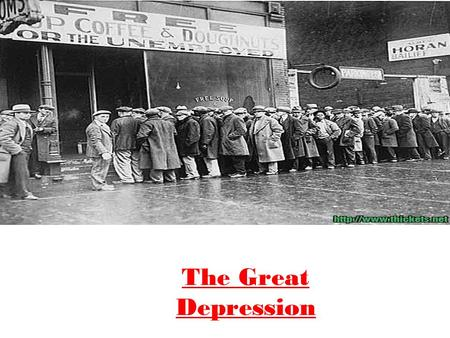 The Great Depression. The 1920s were a decade of consumer spending and the economy looked healthy on the surface Income did increase in the 1920s, but.