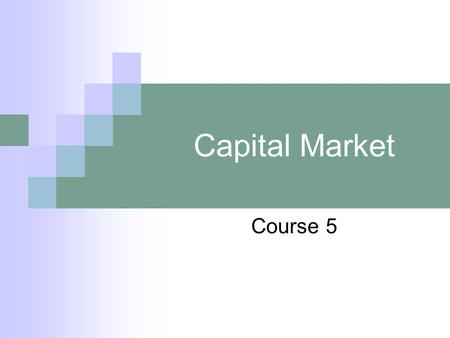 Capital Market Course 5. V. Return and Risk The initial investment is 100 m.u., the value increase and we will obtain 130 m.u.  we earn 30 m.u.  Return.