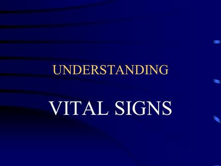 UNDERSTANDING VITAL SIGNS. LEQ: WHY ARE VITAL SIGNS SO IMPORTANT? Vital Signs give Medical Professionals an idea of how well or how sick a patient may.