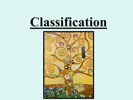 Classification. The History of Organization Aristotle 384-322 BC Interested in biological classification. Patterns in nature. Carl Linnaeus 1707-1778.