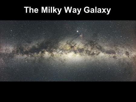 The Milky Way Galaxy. What are each of these?
