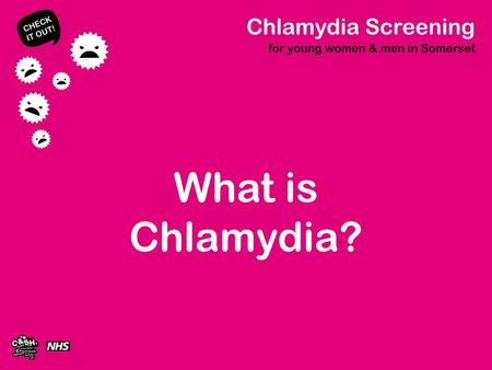 What is Chlamydia?. Chlamydia Bacterial sexually transmitted infection (STI) Most common STI throughout the world 1 in 10 sexually active 15 – 25 years.