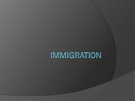  Immigration policy – major concern in an age of terrorism;