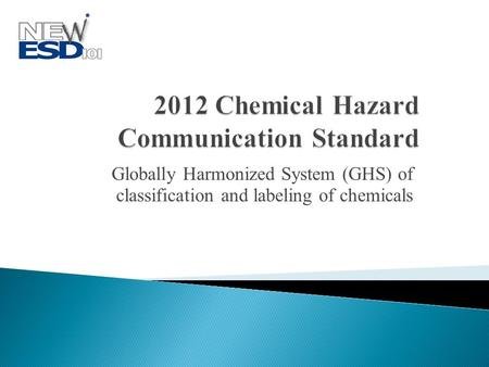 Globally Harmonized System (GHS) of classification and labeling of chemicals.