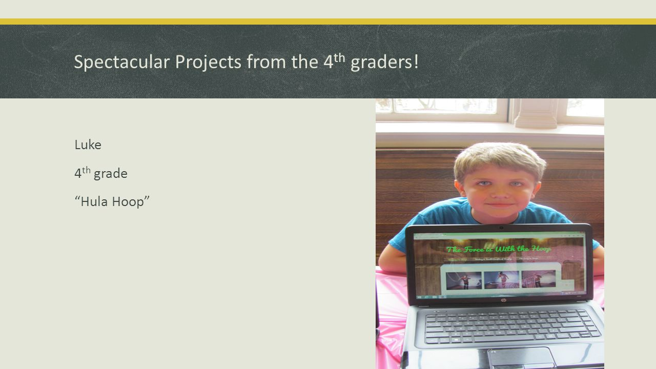 Spectacular Project from the 4 th graders! Conner 4 th grade Cheetahs