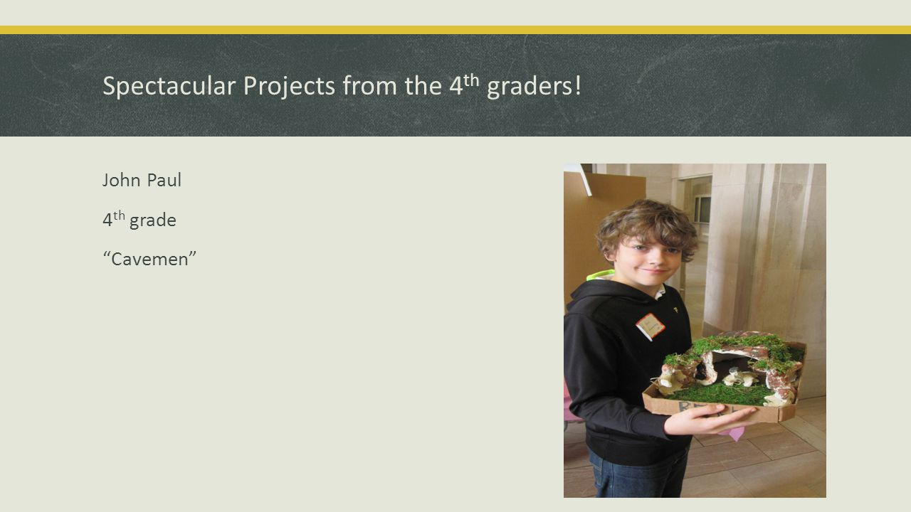Spectacular Projects from the 4 th graders! Christian M. 4 th grade How Bees Make Honey
