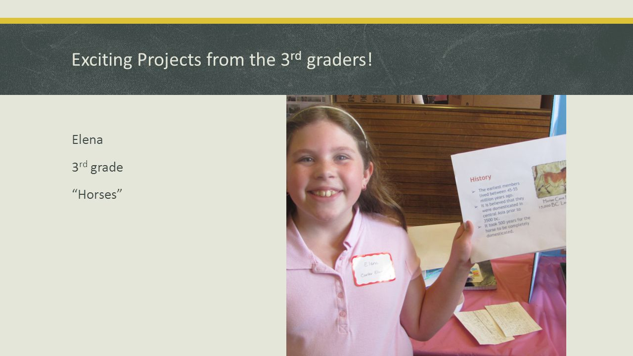 Exciting Projects from the 3 rd graders! Gabriel 3 rd grade Einstein's Theory of Relativity