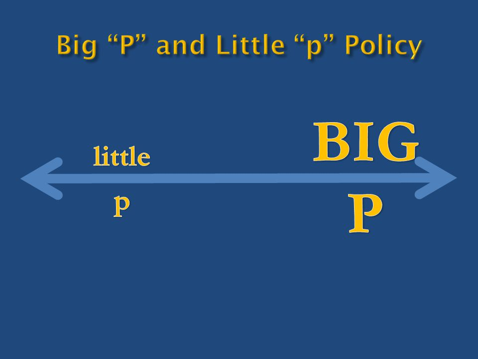 Things you can already do Things you can do if you're a little creative Things you can do if you alter little p policies Things that you can do only if you change big P policies