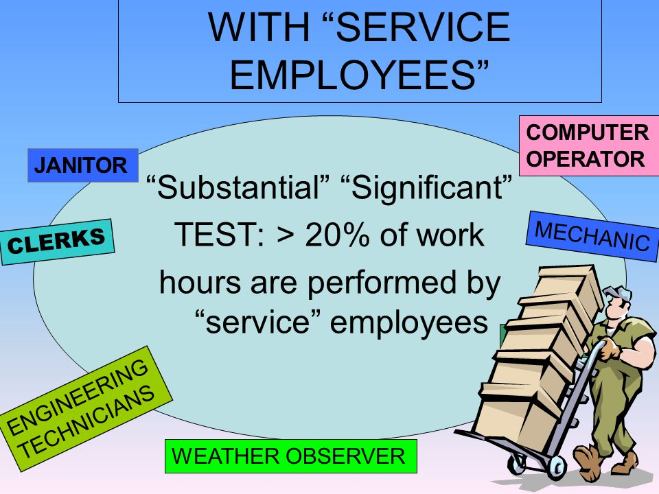 Who is a service employee .